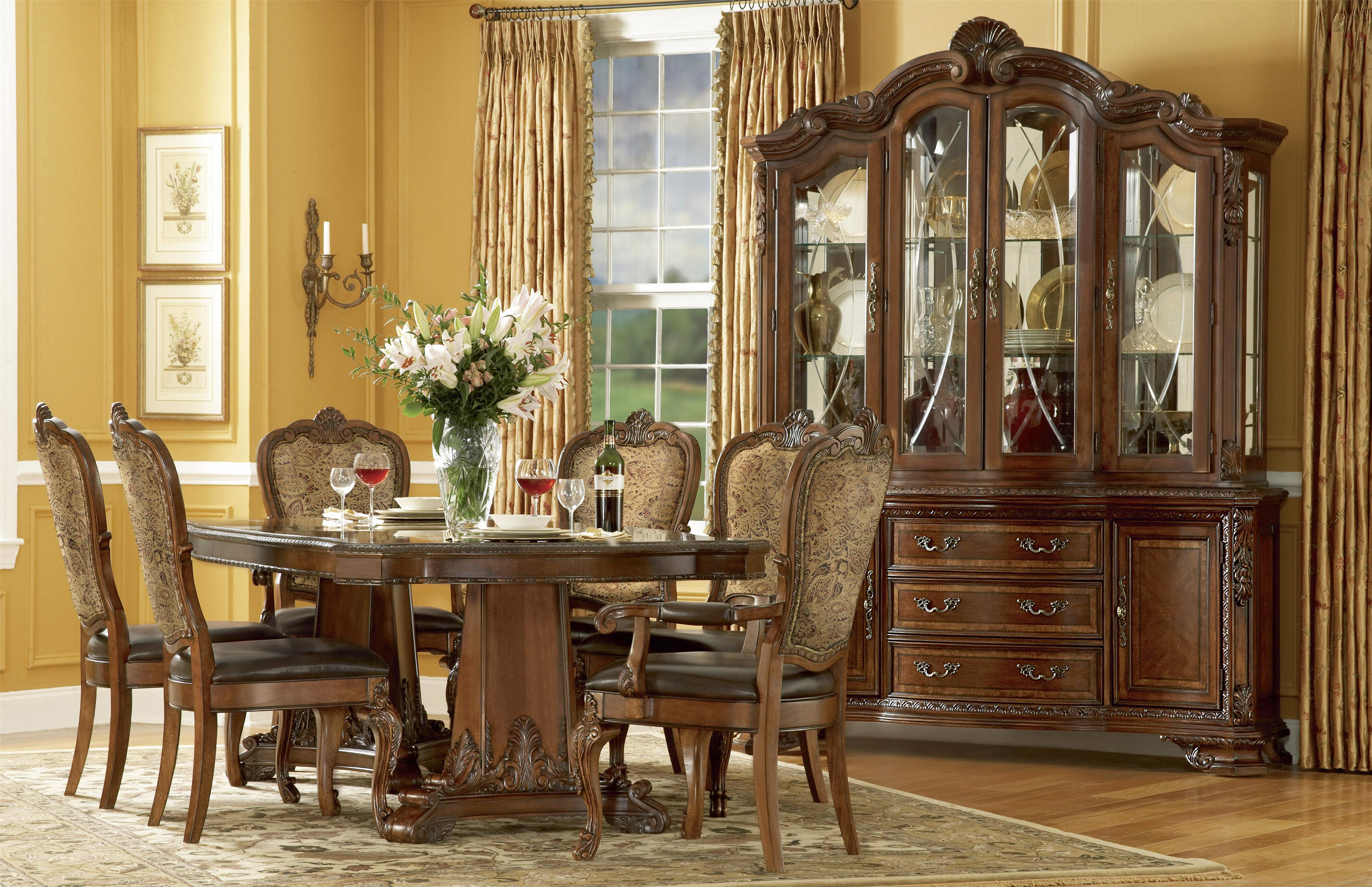 a.r.t. furniture inc old world formal dining room group | olinde's