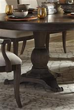 Shaped Pedestal on Dining Tables