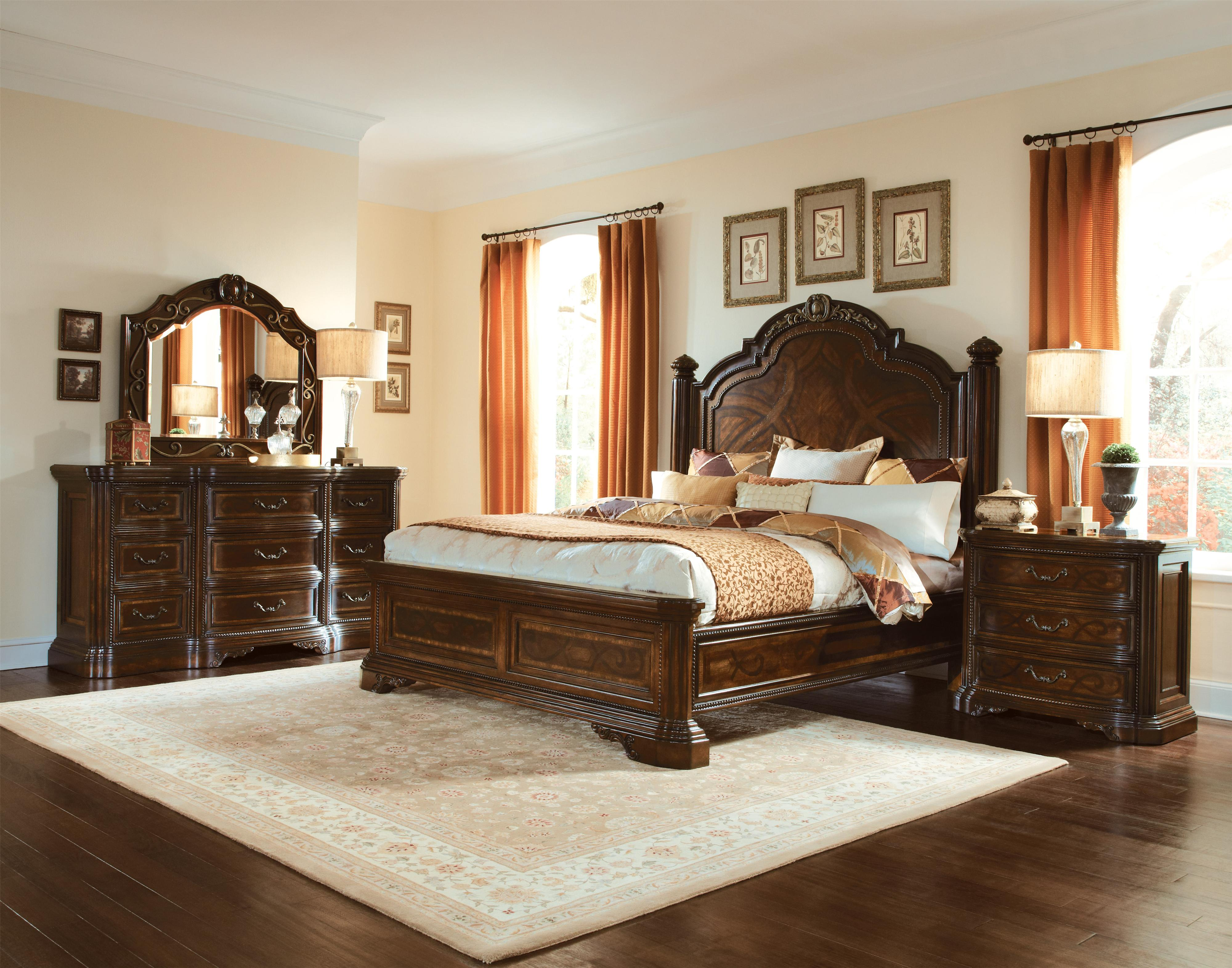Exceptionnel A.R.T. Furniture Inc Valencia Queen Leather Upholstered Sleigh Bed    Complete Set   Boulevard Home Furnishings   Sleigh Beds