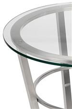 Glass Table Top on Planted Brushed Nickel Base