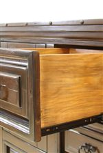Detail of Pulled Out Drawer with Ball Bearing, Full Extension Glides