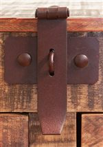 Select Pieces Feature Rust Colored Accent Hardware