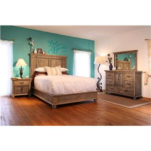 International Furniture Direct Praga  Queen Bedroom Group