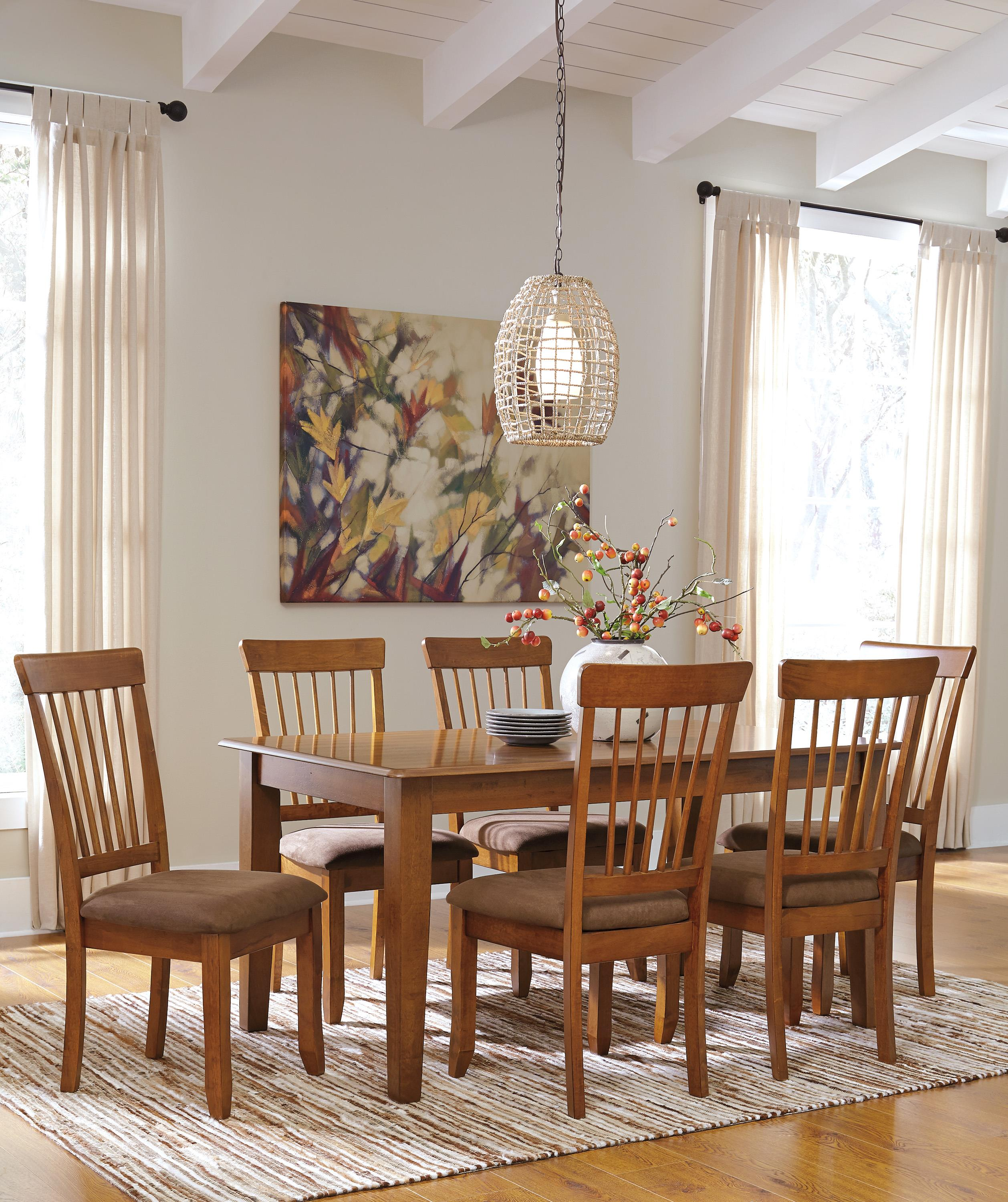 Ashley Furniture Berringer Hickory Stained Hardwood Round Drop Leaf - High top table ashley furniture