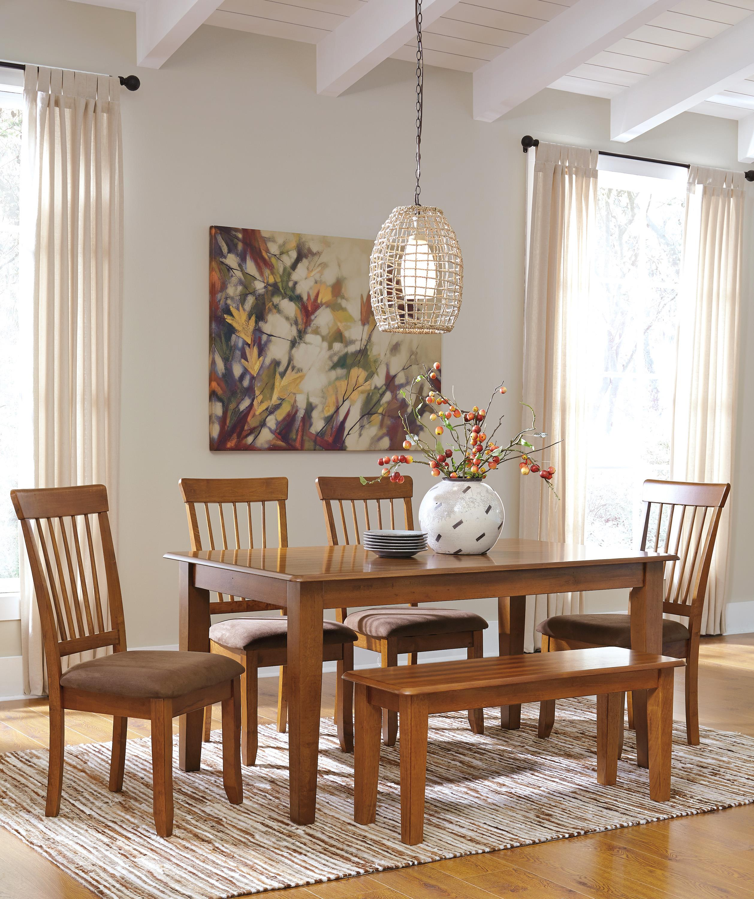 Ashley Furniture Berringer Hickory Stained Hardwood Round Drop Leaf Table    Rooms And Rest   Kitchen Tables Part 69
