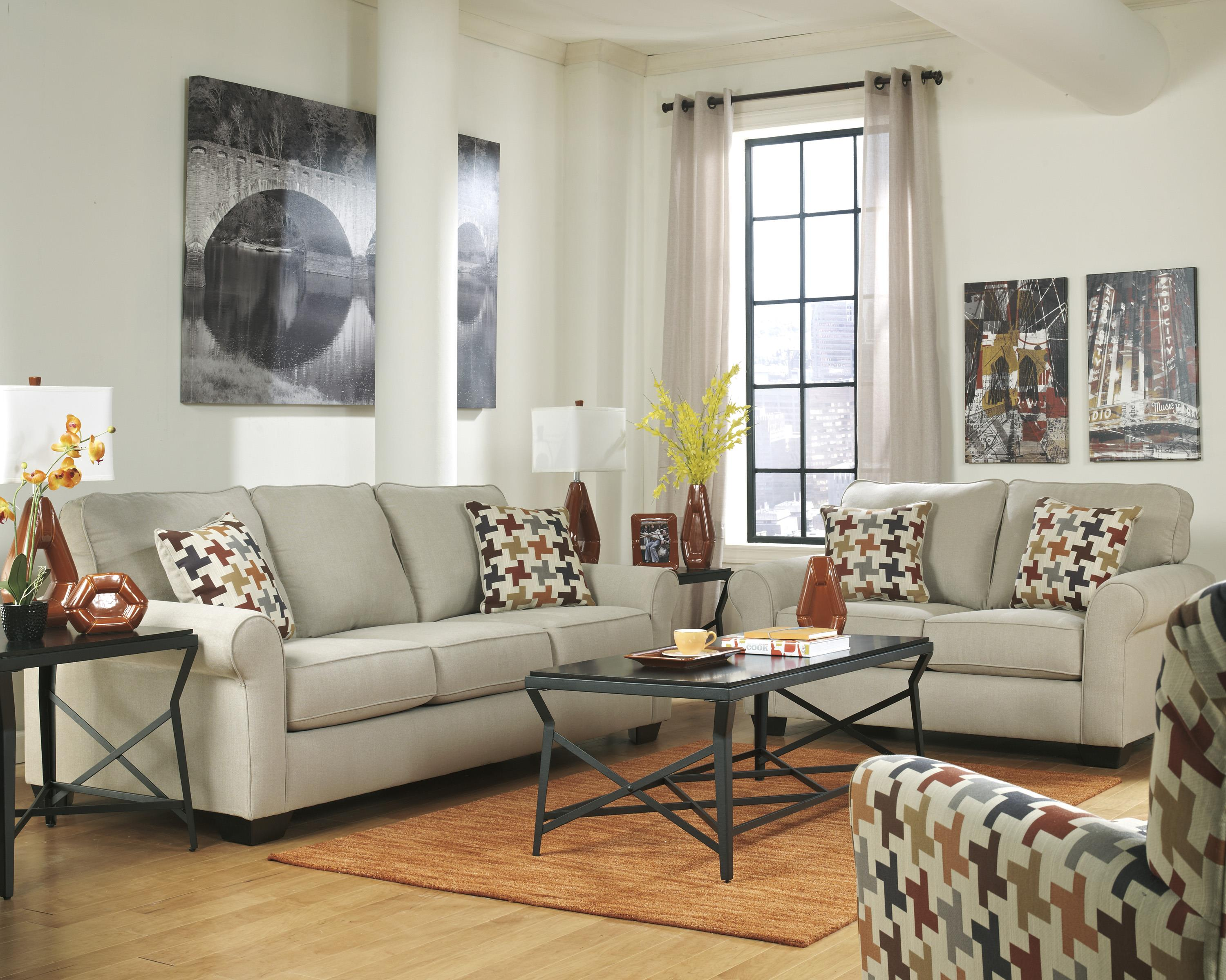 Ashley Furniture Caci Stationary Living Room Group - Item Number: 88202 Living Room Group 3