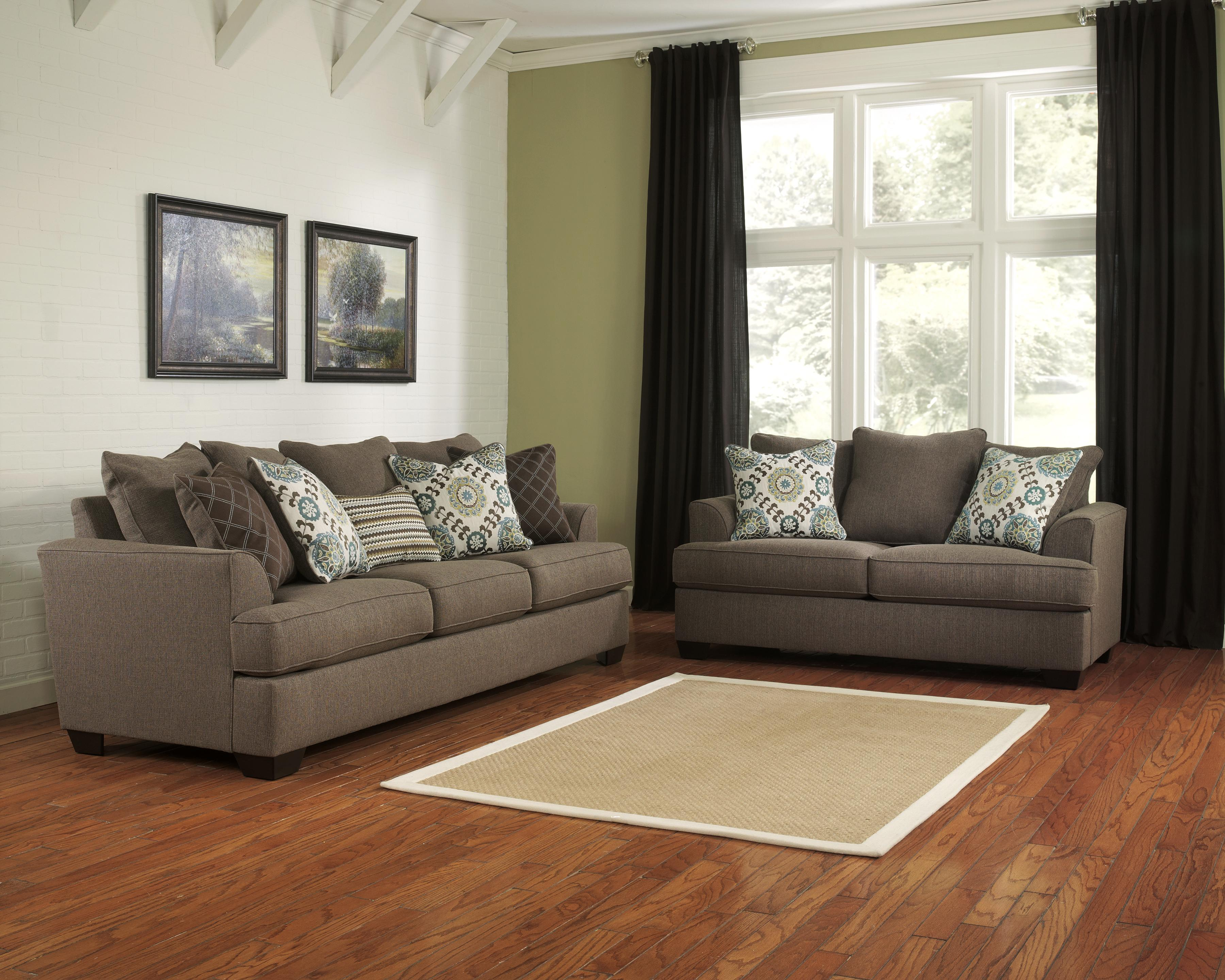 Ashley Furniture Corley - Slate Stationary Living Room Group - Item Number: 28800 Living Room Group 1