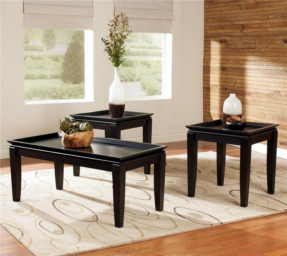 Signature Design By Ashley Delormy In Pack Contemporary - Ashley signature coffee table set