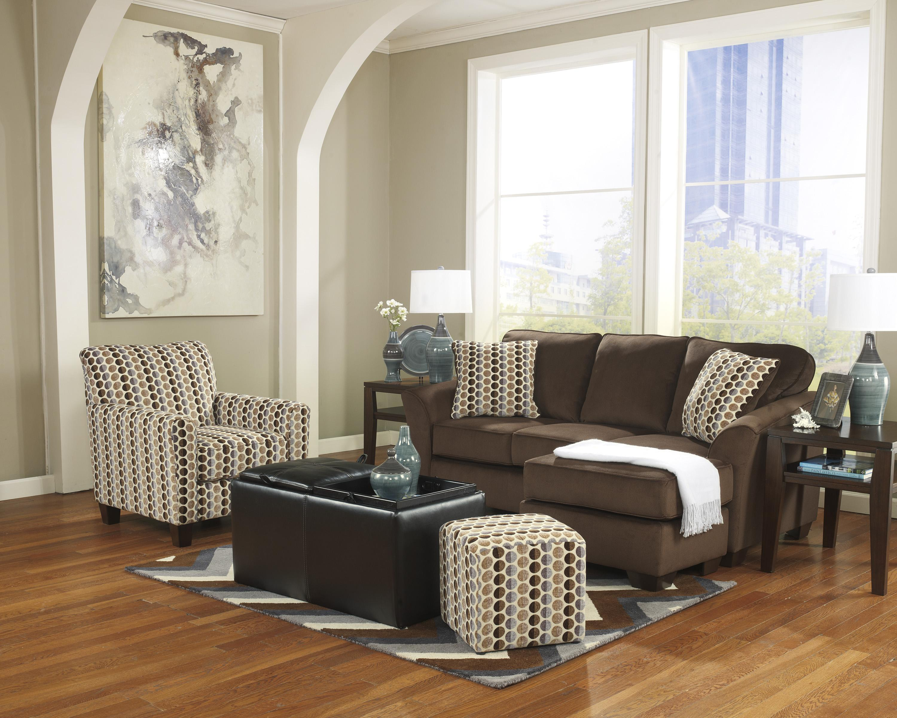 Ashley Furniture Geordie - Cafe Stationary Living Room Group - Item Number: 23500 Living Room Group 3