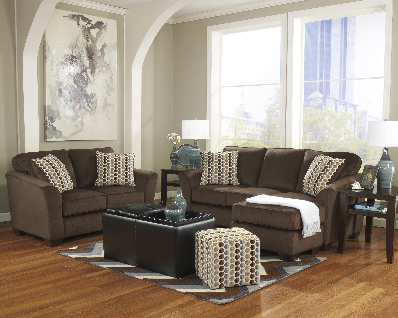 Ashley Furniture Geordie - Cafe Stationary Living Room Group - Item Number: 23500 Living Room Group 4