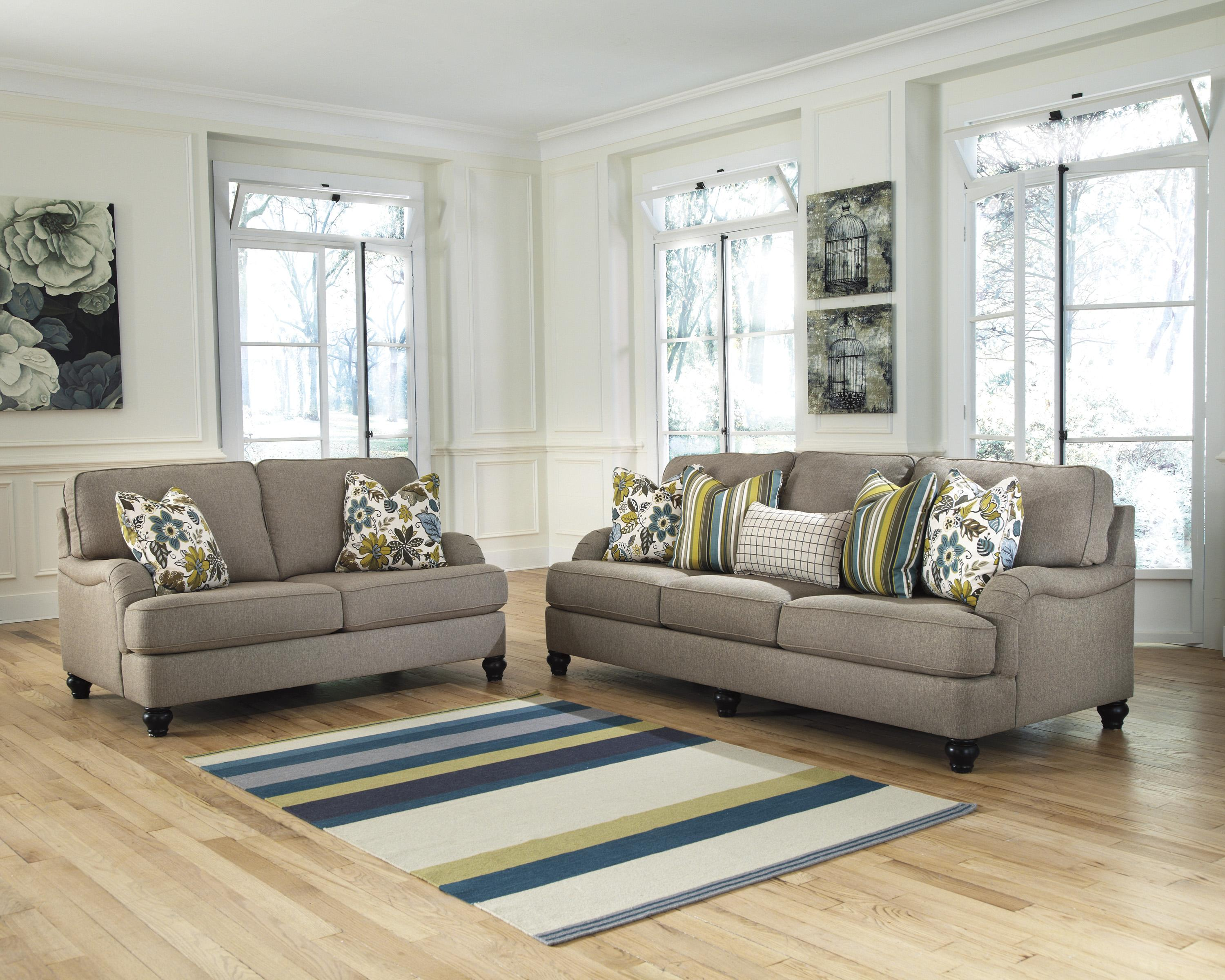 Ashley Furniture Hariston - Shitake Stationary Living Room Group - Item Number: 25500 Living Room Group 1