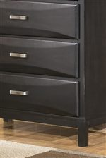 Shaped Overlay Drawer Fronts.