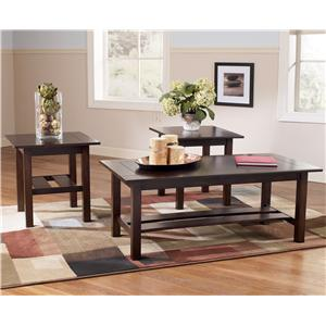 Signature Design By Ashley Lewis Contemporary In Pack Occasional - Ashley signature coffee table set