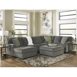 Ashley Furniture Loric - Smoke Stationary Living Room Group
