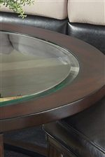 Beveled Glass Inserts in Table Tops