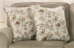 Colorful Leaf Motif on Accent Pillows