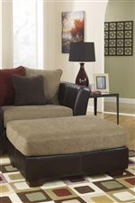 Oversized Accent Ottoman Can Be Used with Chair and a Half