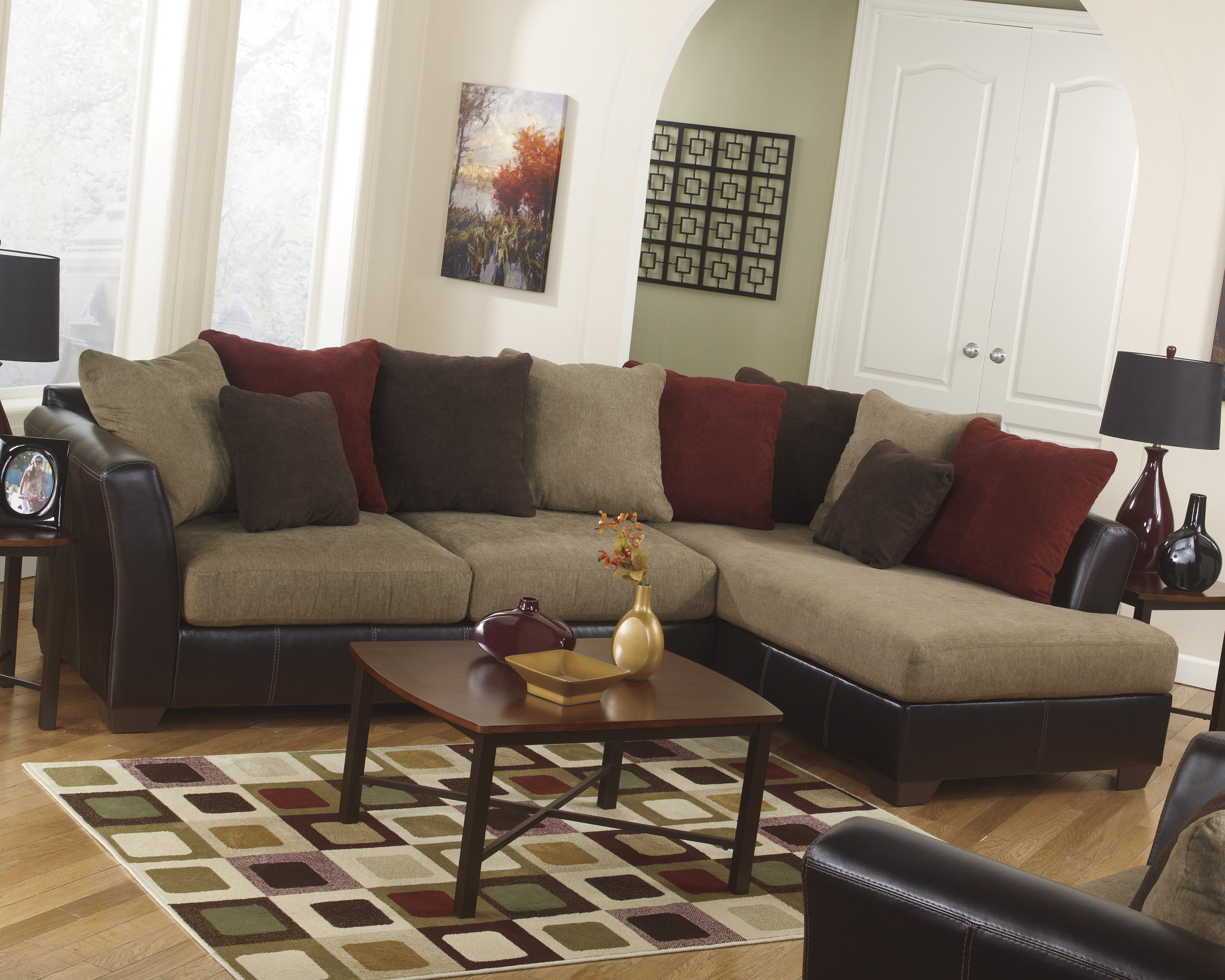 Ashley Furniture Sanya - Mocha Stationary Living Room Group - Item Number: 28400 Living Room Group 5
