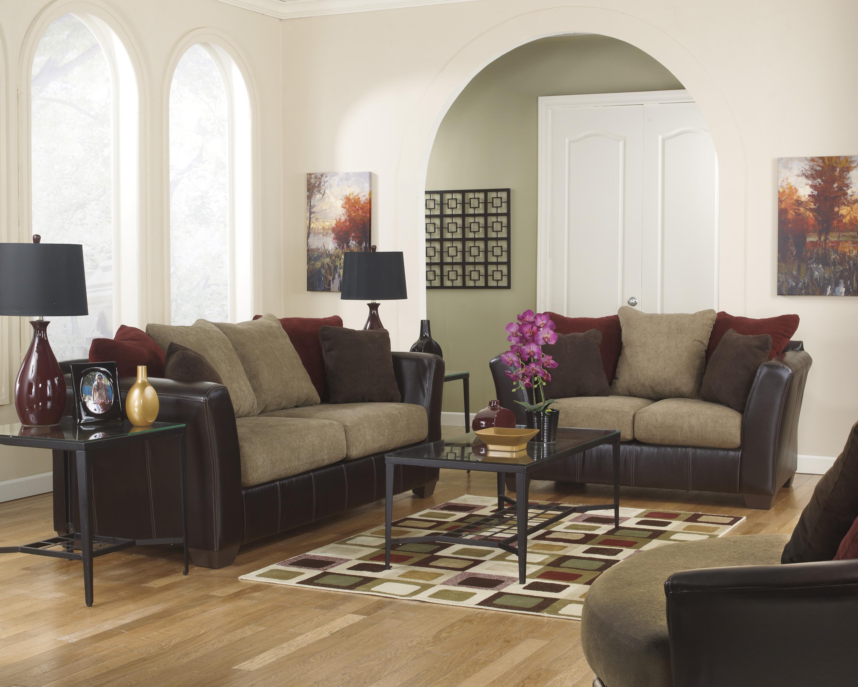 Ashley Furniture Sanya - Mocha Stationary Living Room Group - Item Number: 28400 Living Room Group 2