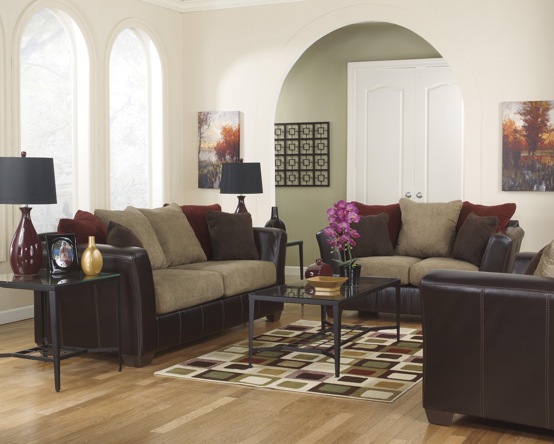 Ashley Furniture Sanya - Mocha Stationary Living Room Group - Item Number: 28400 Living Room Group 3