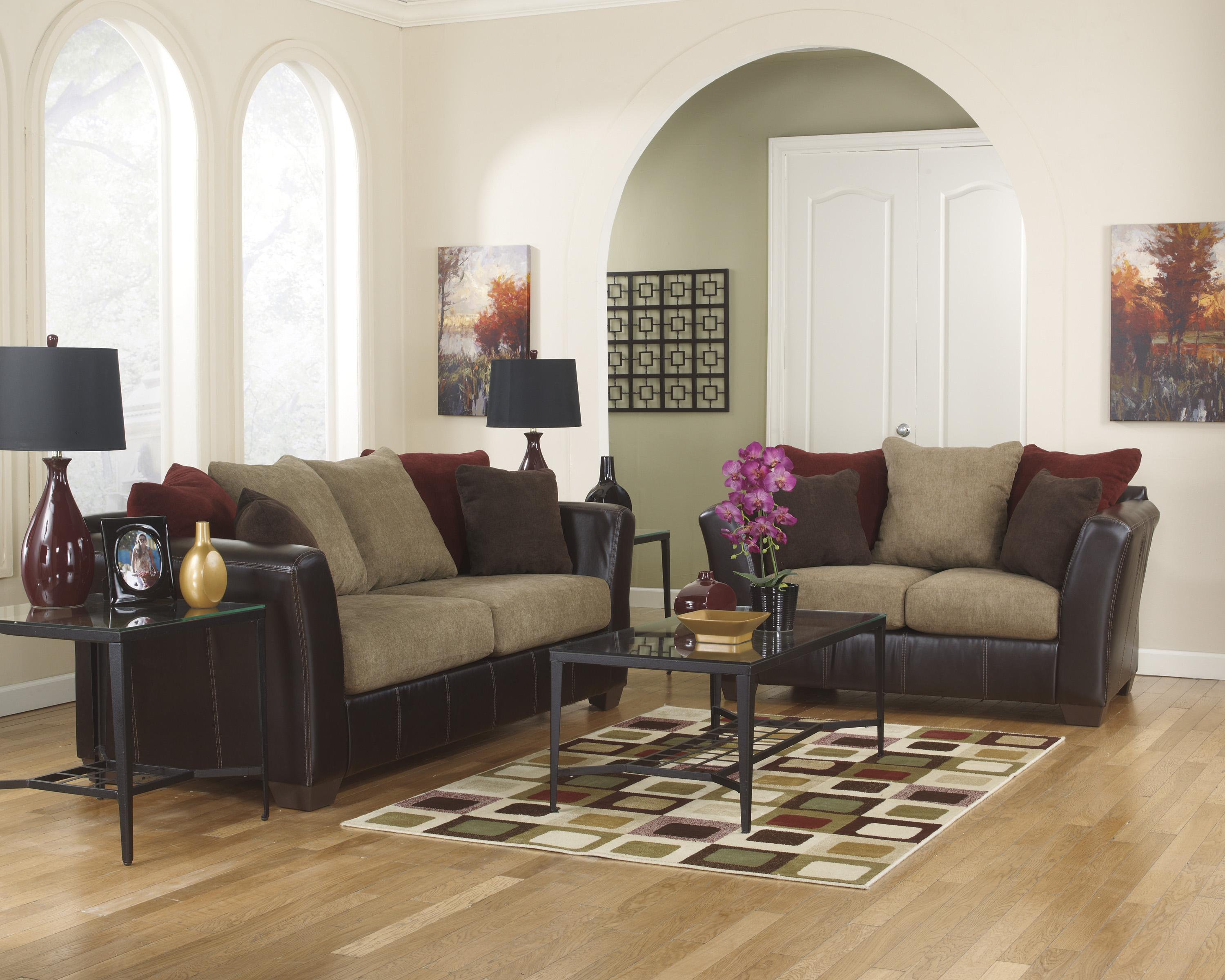 Ashley Furniture Sanya - Mocha Stationary Living Room Group - Item Number: 28400 Living Room Group 1