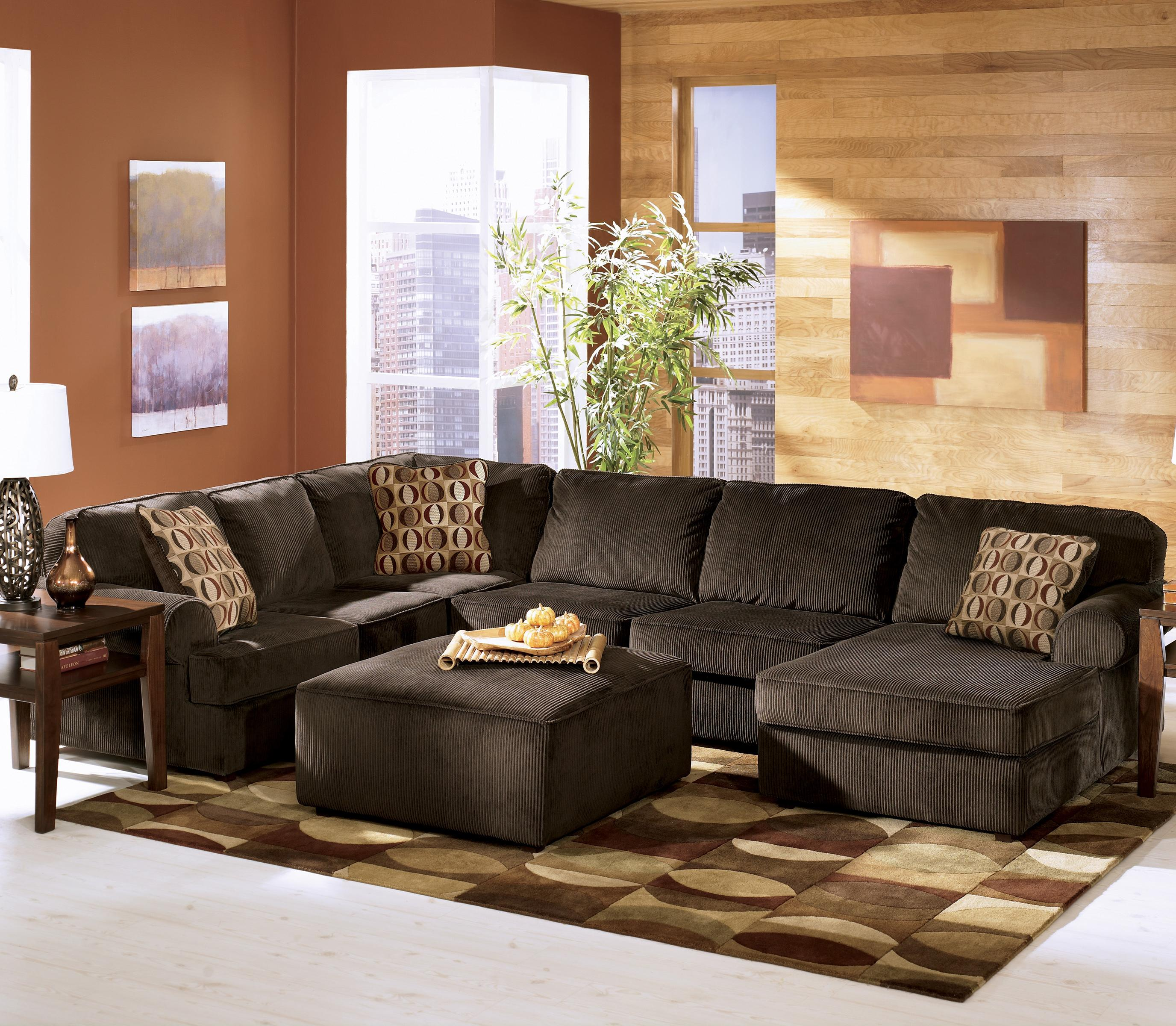 Ashley Furniture Vista - Chocolate Casual 3-Piece Sectional with Left Chaise - Wayside Furniture - Sofa Sectional : ashley furniture victory sectional - Sectionals, Sofas & Couches