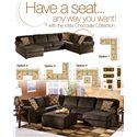 Ashley Furniture Vista - Chocolate Stationary Living Room Group - Multiple Configuration Options