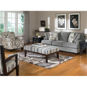 Ashley Furniture Yvette - Steel Showood Accent Chair w/ Wood Frame
