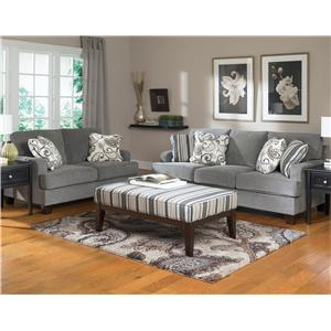 Ashley Furniture Yvette Steel Stationary Sofa W Loose