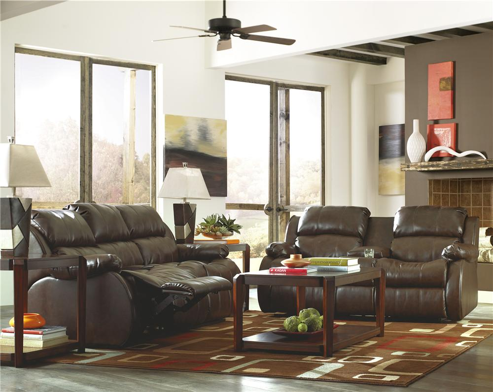 Millennium Mollifield DuraBlend® - Café Reclining Living Room Group - Item Number: 22200 Living Room Group 1