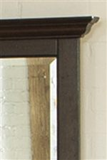 Beveled Mirror and Molding