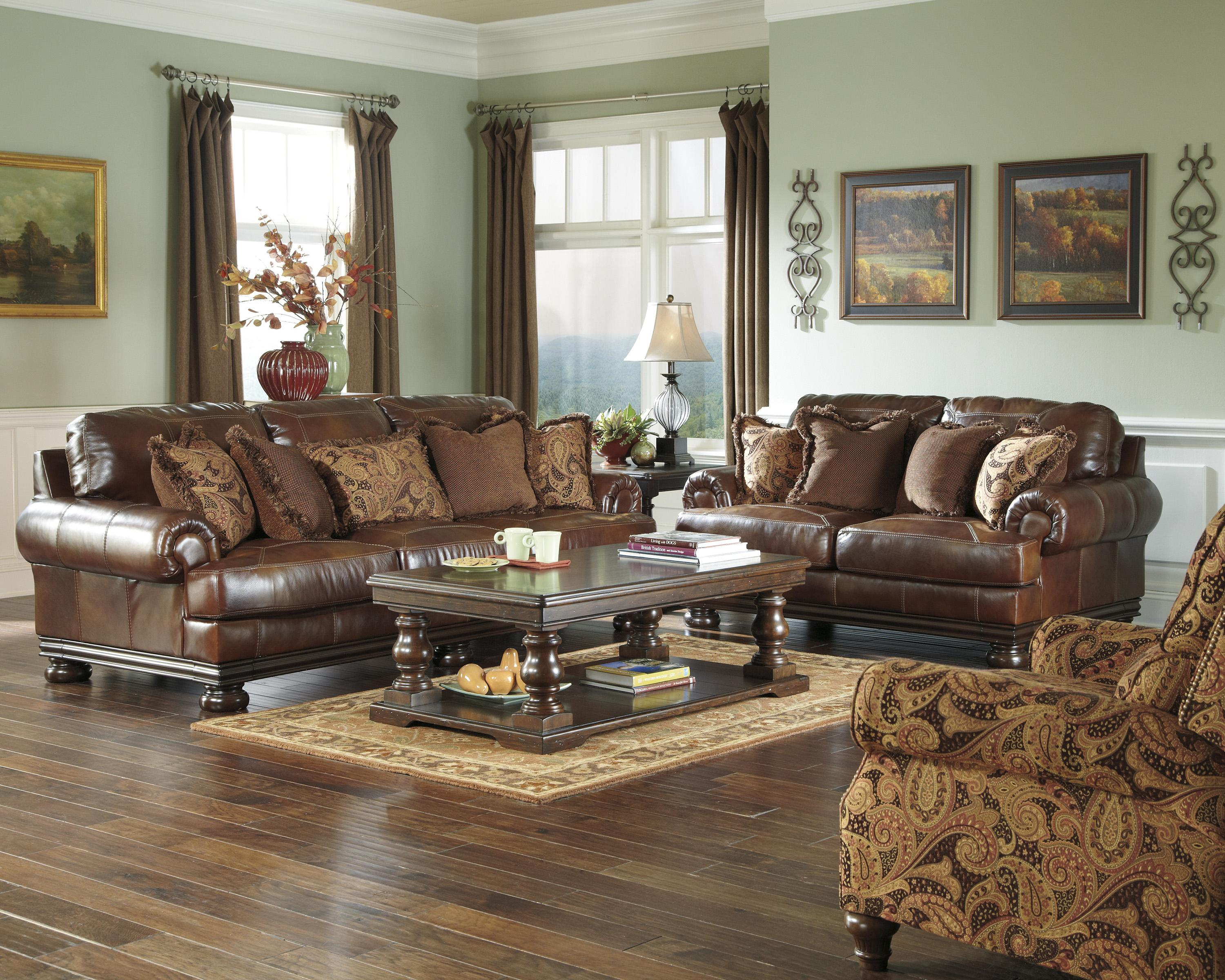 Signature Design by Ashley Hutcherson Stationary Living Room Group - Item Number: 211 Living Room Group 3