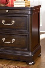 Framed Drawer Fronts, Ogee Edging, and Bun Feet