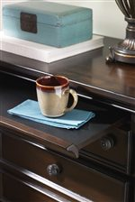 Pull Out Shelf Featured on Nightstand