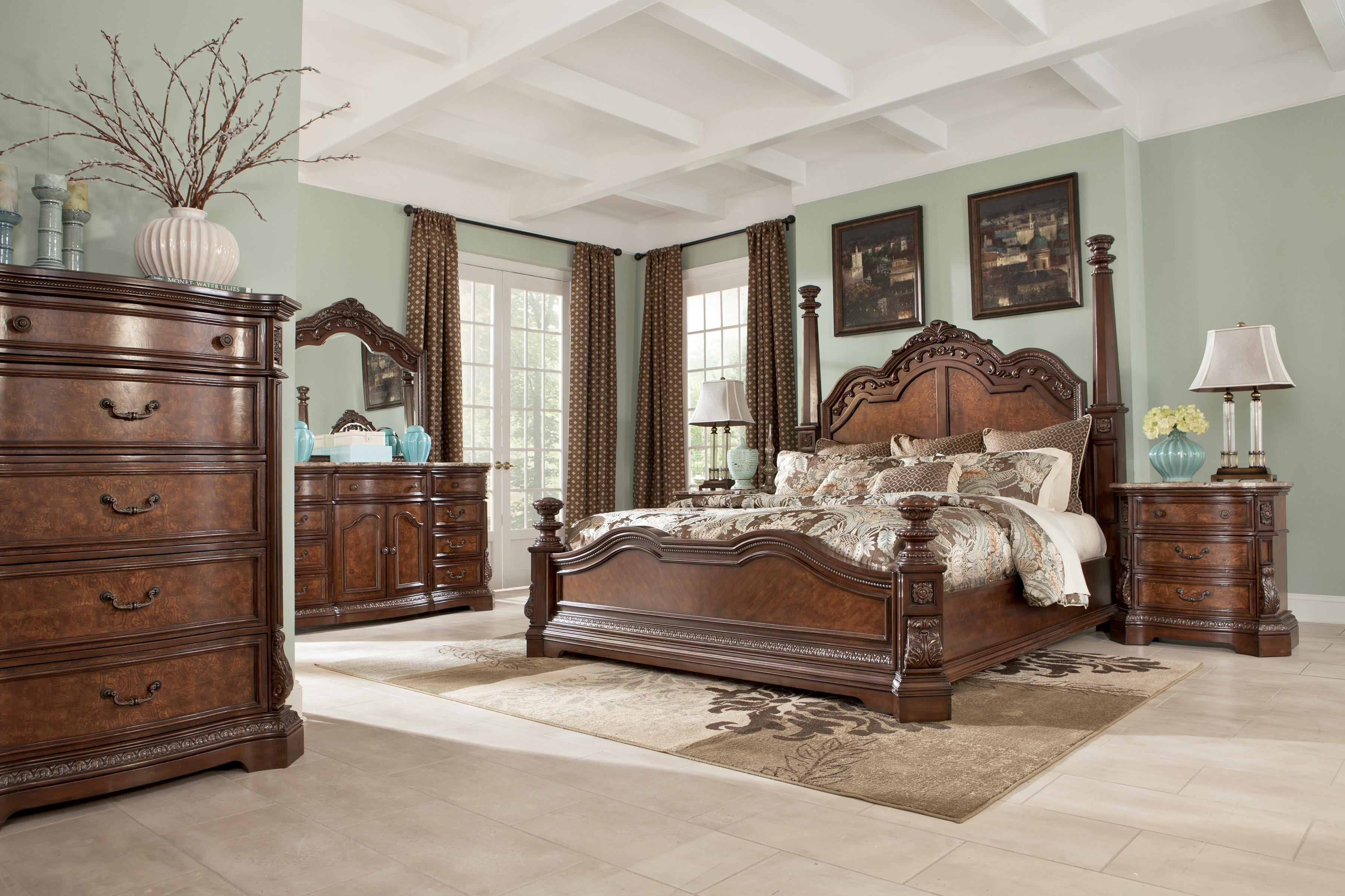 Marlo Bedroom Furniture Millennium Ledelle Queen Sleigh Headboard With Tufted Brown Faux