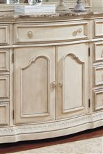 Serpentine Shape Dresser with Center Doors