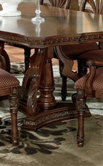 Rectangular Dining Table with Double Pedestal Base