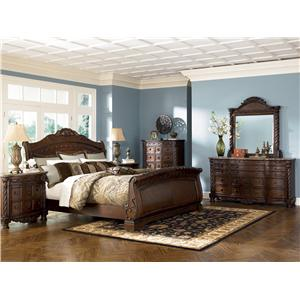 Millennium North Shore King Sleigh Bed