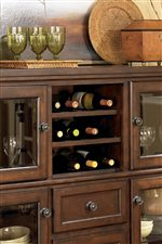 Wine Bottle Storage Featured on Server