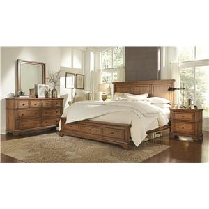 Aspenhome Alder Creek King Panel Bed with Lamp Assist