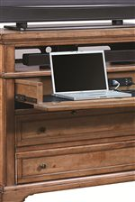 Select Items Feature Drop Front Drawers with Included Outlets
