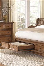 46200c7f73 Highland Court Walnut Creek Queen Low Profile Sleigh Storage Bed ...