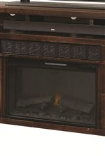 Fireplace Console Offers a Built-In Electric Fireplace