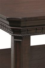 Occasional Tables Feature Rope Moulding, Dentil Carving Details and Paneled Legs