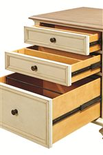 Single File Cabinet Features Full Extension Utility and File Drawers