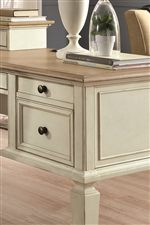 Two-Tone Oak Tops on Painted Finish