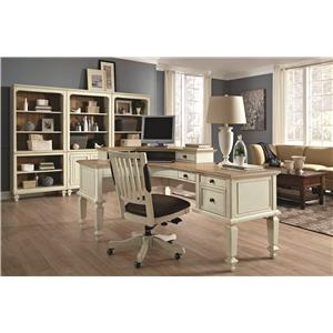 Aspenhome Cottonwood Office Chair with Leather Seat and Five-Star Base