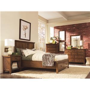 Aspenhome Cross Country California King-Size Platform Bed with Panel Headboard