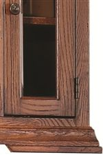 Low Bracket Feet & Simple Molding Gives Traditional Style a More Casual Feel