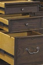 Sturdy Drawer Construction with Metal Glides Found Throughout Collection